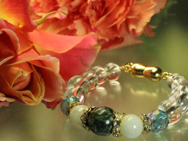 混乱した自分を癒す◆セラフィナイト・翡翠・アクアオーラ・水晶☆プレゼントのサムネイル