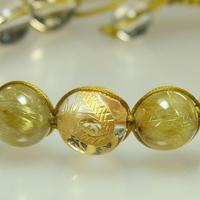 強力な幸運 水晶AA・ゴールドルチルAAAブレスレットのサムネイル