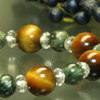 ゆとりをもった仕事◆タイガーアイ・セラフィナイト・水晶のサムネイル