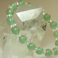 グリーンアベンチュリン・ボタンカット水晶ブレスレットのサムネイル