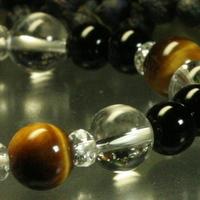 タイガーアイ・オニキス・水晶ブレスレットのサムネイル