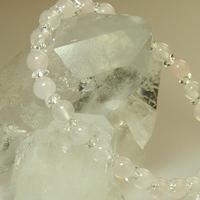 ローズクォーツ・ボタンカット水晶ブレスレットのサムネイル