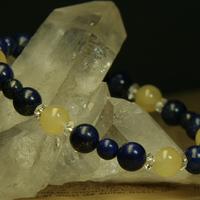 ラピス・水晶・イエローカルサイトブレスレットのサムネイル